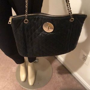 DKNY Leather Quilted Hanbag